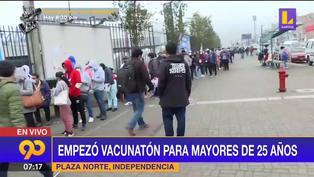 Coronavirus en Perú: Empezó Vacunatón para mayores de 25 años