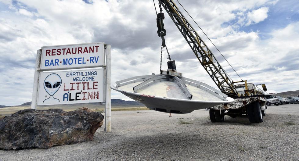 En junio del 2019, un evento de Facebook que llamaba a entrar en el Área 51, la misteriosa base militar ubicada en el desierto de Nevada, se volvió viral al punto que las autoridades tuvieron que intervenir para evitarlo. (Foto: AFP / Getty Images)