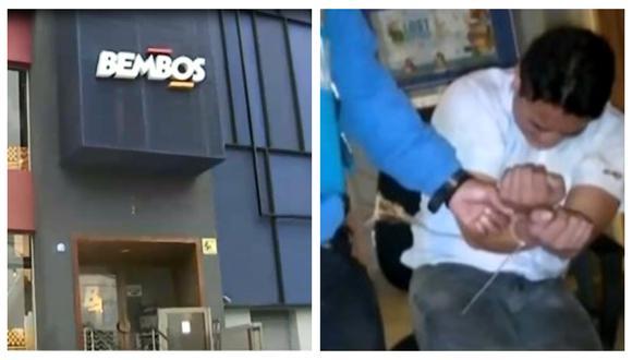 Trabajadores de local de comida rápida ubicado en Miraflores fue reducido por delincuentes. (Captura: América Noticias)