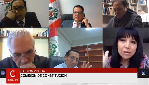 La Comisión de Constitución del Congreso 2020-2021 presenta su tercera versión de predictamen que regula la democracia interna de los partidos (Captura de pantalla: Congreso).