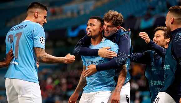 Con goles de Sterling y Gabriel Jesús, Manchester City ganó 2-1 a Real Madrid y clasifica a cuartos de final de la Champions League. Foto: AFP