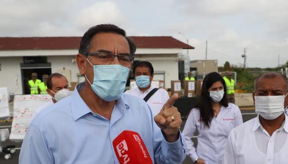 Martín Vizcarra calificó como una estrategia para mantener su inmunidad parlamentaria el dictamen aprobado este domingo. (Foto: Presidencia)
