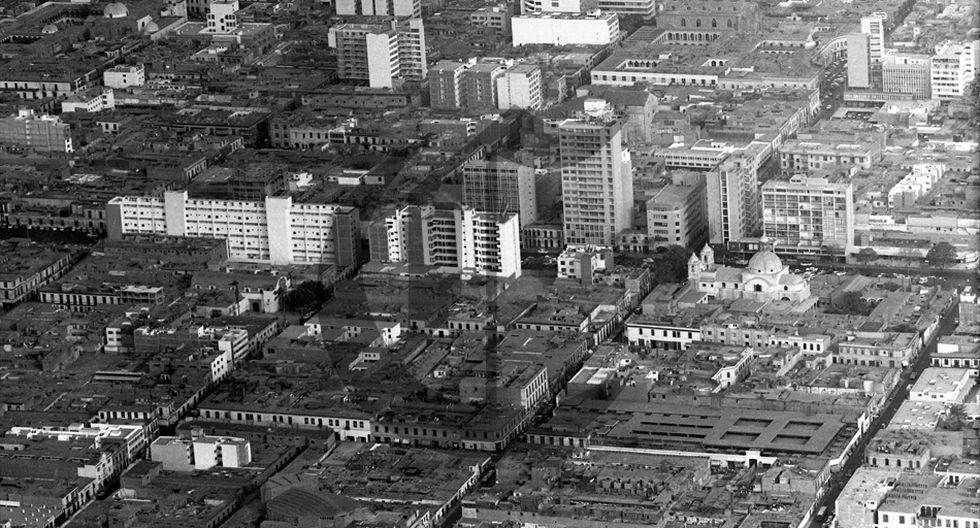 Así se veía el centro de Lima desde el cielo en 1960 - 3