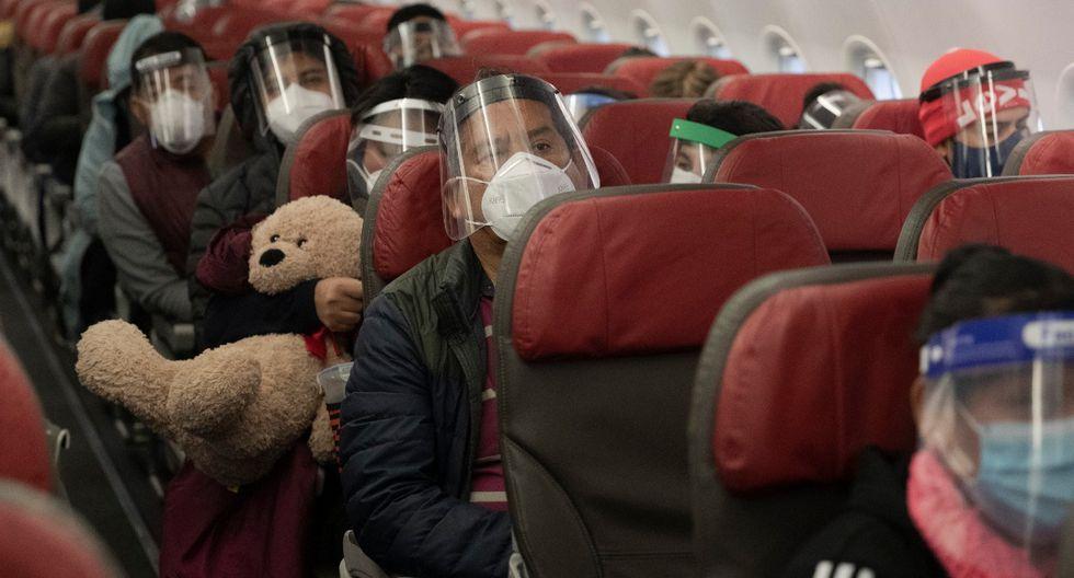 La capacidad ocupada del vuelo ascendió a un 75% del total.  (Foto: Renzo Salazar)