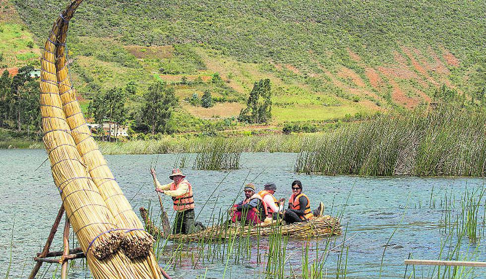 Un paseo en bote por la Laguna San Nicolás por 15 minutos cuesta 3 soles. (Foto: Jaime Gianella)