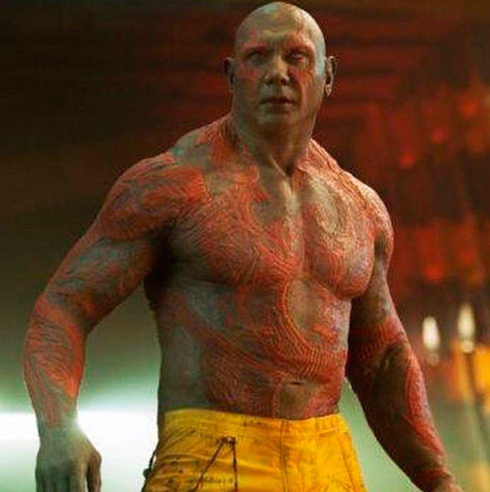Dave Bautista hizo el papel de Drax el Destructor en Guardianes de la Galaxia, una de las películas que más taquilla logró. (Foto: Marvel Studios)