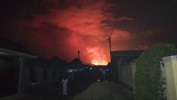 Imagen referencial. Autoridades reportaron que un segundo volcán entró en erupción en la República Democrática del Congo. (EFE/EPA/EUGENE UWIMANA).