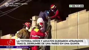 La Victoria: derrumbe de una pared deja niños atrapados