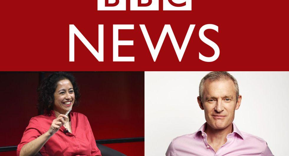 Samira Ahmed y Jeremy Vine, conductores de programas de noticias de la BBC.