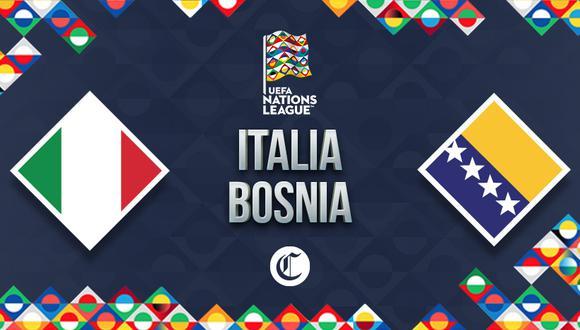 Italia y Bosnia se verán las caras por el Grupo 1 de la UEFA Nations League. (Foto: Diseño El Comercio)
