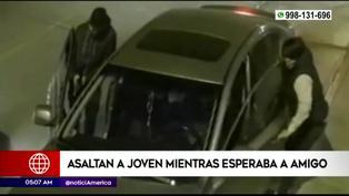 Surco: joven fue asaltado en su auto mientras esperaba a amigo