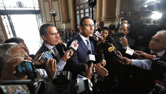 """El presidente Martín Vizcarra  exhortó al Parlamento a tratar """"sin trampas"""" los 12 proyectos de reforma política, entre ellos el que propone que la Corte Suprema levante inmunidad a congresistas. (Foto: Alessandro Currarino/ GEC)"""