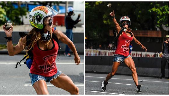 Venezuela: La 'Mujer Maravilla' que protesta contra Maduro