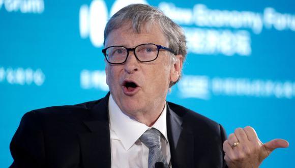 Bill Gates, Copresidente de la Fundación Bill y Melinda Gates, asiste a una conversación en el Foro de la Nueva Economía 2019 en Beijing, China. (REUTERS / Jason Lee /archivo).