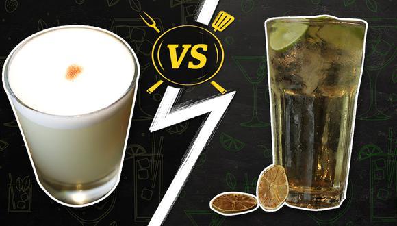 Versus culinario: Pisco Sour o Chilcano. ¿Con cuál te quedas tú? (Diseño: El Comercio)