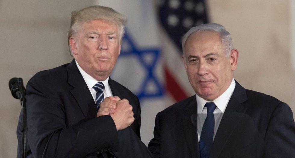 El presidente de Estados Unidos, Donald Trump, junto al primer ministro de Israel, Benjamin Netanyahu. (Foto: AP)