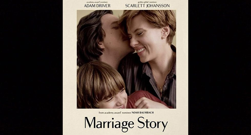"""Afiche de """"Marriage Story"""", la cinta protagonizada por Scarlett Johansson y Adam Driver."""
