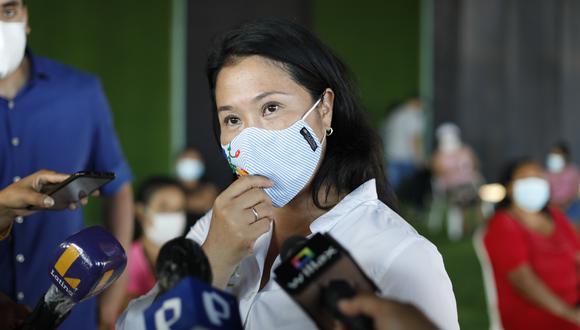Keiko Fujimori arremetió contra Verónika Mendoza y se refirió a las agendas de Nadine Heredia. (Foto: GEC)