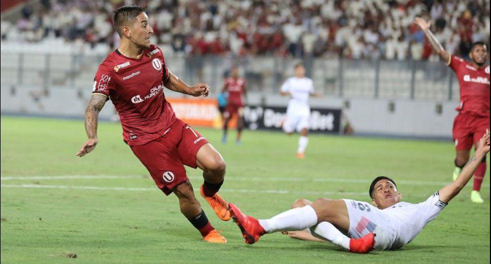 Alejandro Hohberg marcó el gol del empate para Universitario sobre la San Martín en el duelo por la fecha 3 de la Liga 1. (Foto: Universitario).