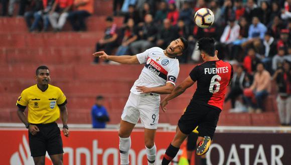 Melgar y San Lorenzo igualaron 0-0 en la apertura del Grupo F de la Copa Libertadores de América 2019, en partido disputado en el estadio Monumental de la ciudad de Arequipa. (Foto: AFP)