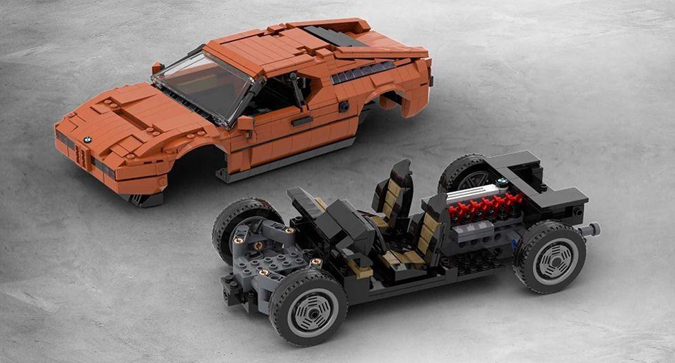 El BMW M1 fue un deportivo alemán cuya producción se extendió de 1978 a 1981. Pronto podría llegar en una versión para Lego. (Fotos: Lego).