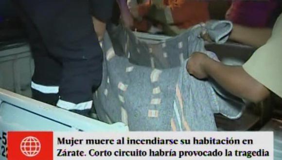 San Juan de Lurigancho: mujer murió en incendio en habitación