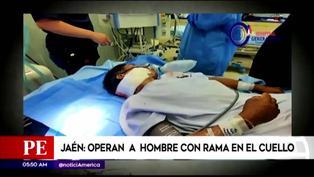 Jaén: hombre salva de morir tras atravesarse una rama en su cuello