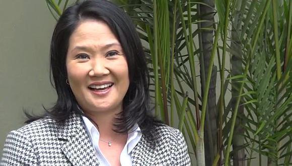 Keiko Fujimori envió un mensaje por Fiestas Patrias a través de YouTube. (Foto: Captura)