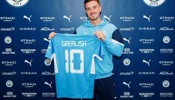 Manchester City anunció la contratación de Jack Grealish. (Foto: Manchester City)