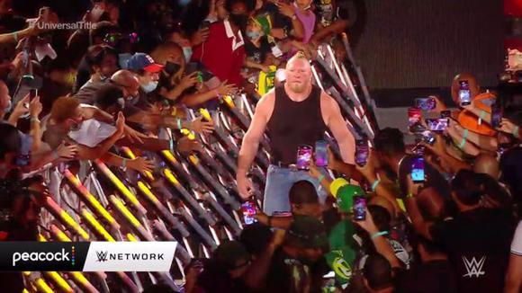 Brock Lesnar returned to WWE at SummerSlam 2021. (Video: Star Action)