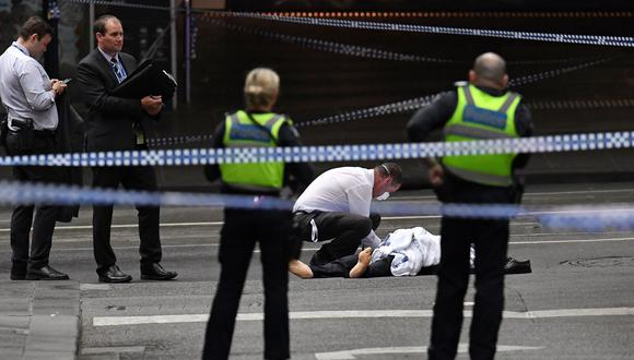 Melbourne: Estado Islámico reinvindica ataque con cuchillo que dejó un muerto (Foto: AFP)