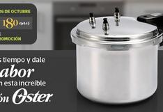 Cocina en menos tiempo y dale sabor a tus comidas con la olla a presión Oster que te trae El Comercio.