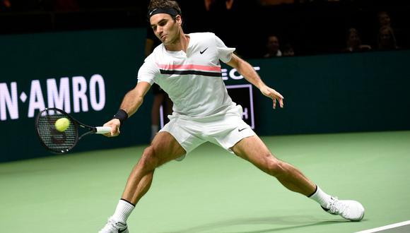 Roger Federer vs. Grigor Dimitrov EN VIVO ONLINE: se miden por la final del ATP de Rotterdam. (Foto: AFP)