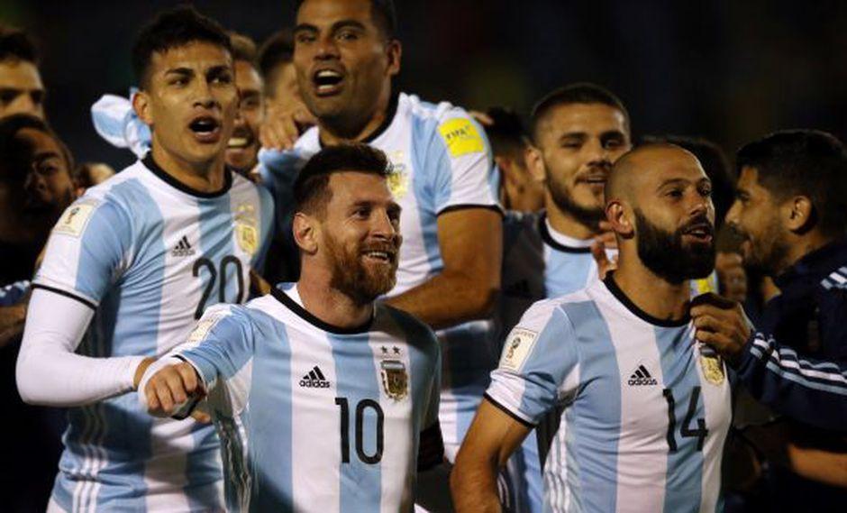 Lionel Messi celebrando la clasificación de su país. (Foto: Reuters)