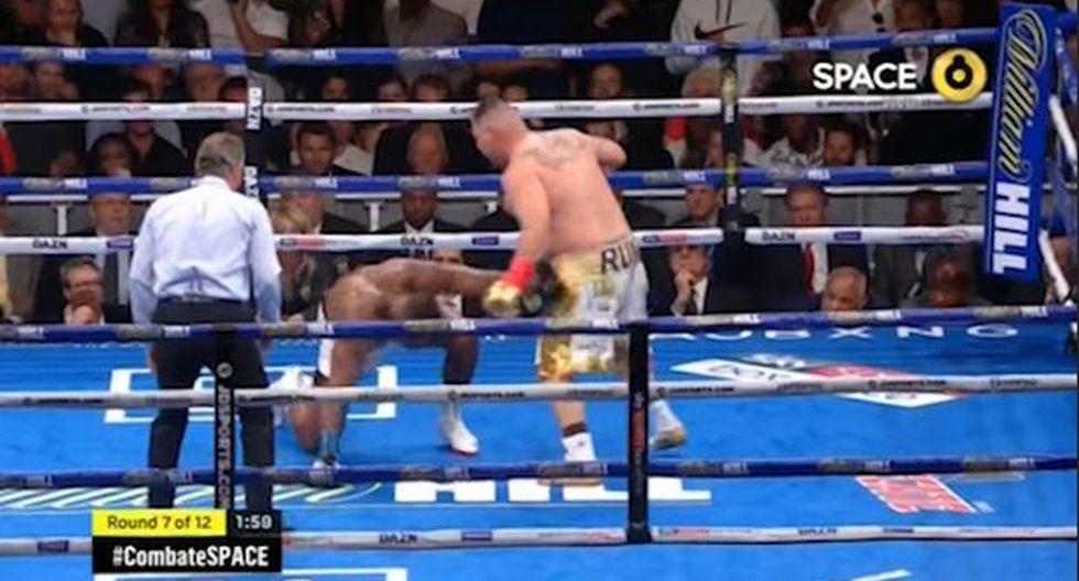 Andy Ruiz Jr. campeón: mira el último round de la pelea frente al británico Anthony Joshua. | Foto: Captura