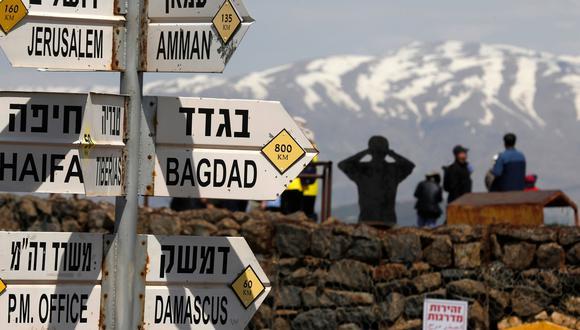 Los Altos del Golán es un territorio fronterizo entre Siria, el Líbano, Israel y Jordania de gran importancia estratégica regional  y que el presidente de Estados Unidos reconoce como israelí. (AFP)