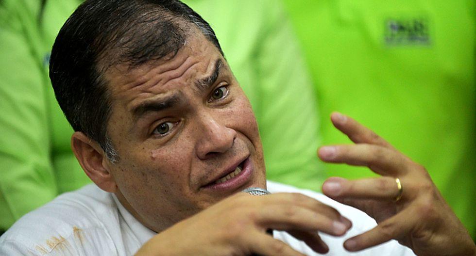 Rafael Correa, ex presidente de Ecuador. (Foto: AFP)