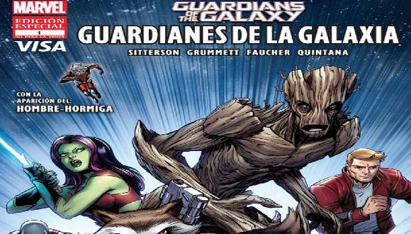 Visa-Marvel lanzan comic financiero de Guardianes de la Galaxia