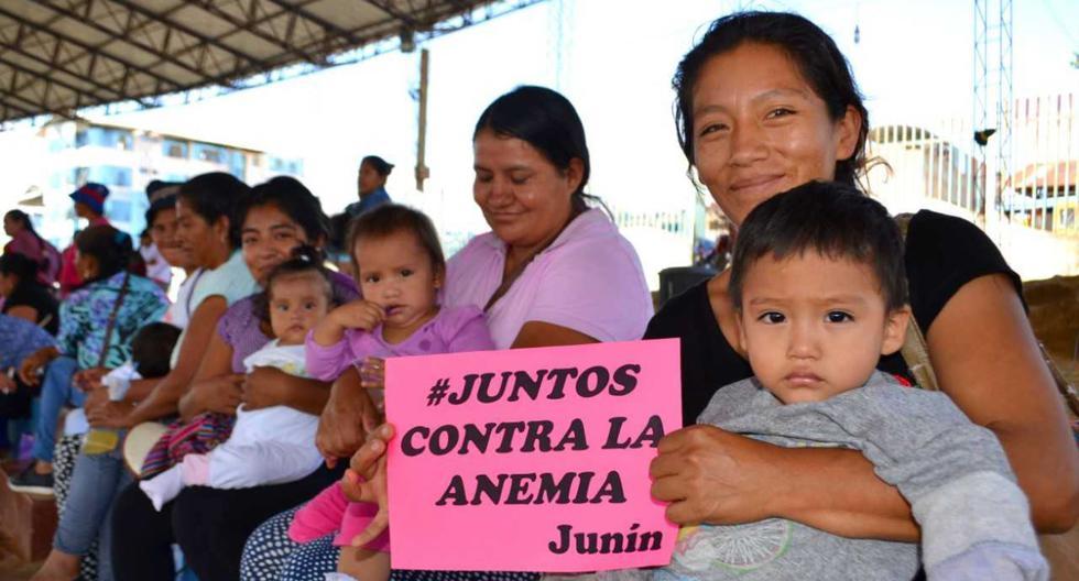 Campaña contra la anemia en Junín