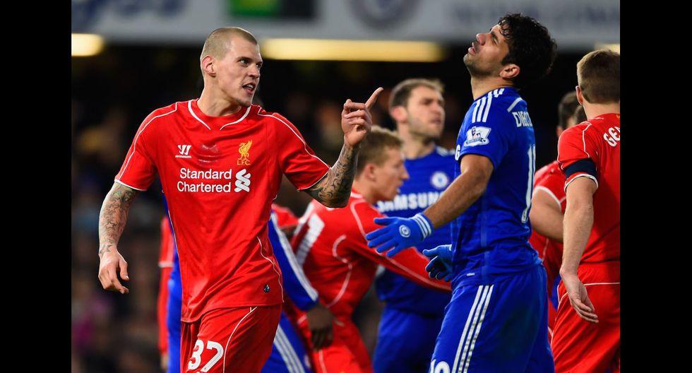 Diego Costa desató la furia de los jugadores del Liverpool - 4