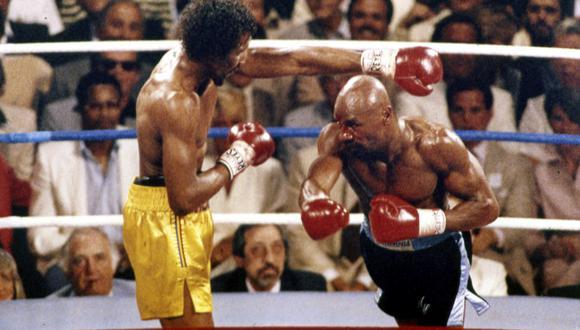 En abril de 1985 se realizó la pelea que tuvo al mejor primer round de la historia. Hagler vs. Hearns (Foto: AP)
