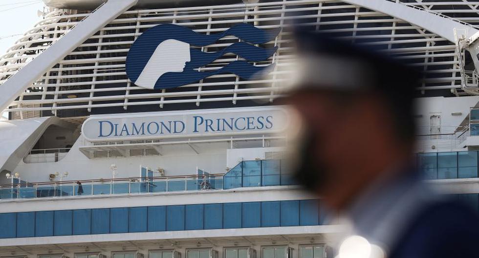 El crucero Diamond Princess en la Terminal de Cruceros Daikoku Pier en Yokohama, al sur de Tokio, JapónFoto: Reuters).
