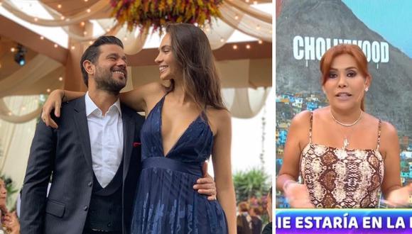 Natalie Vértiz y Yaco Eskenazi estarían esperando su segundo hijo, según señaló Magaly Medina. (Foto: Instagram / @msperu / Captura ATV).