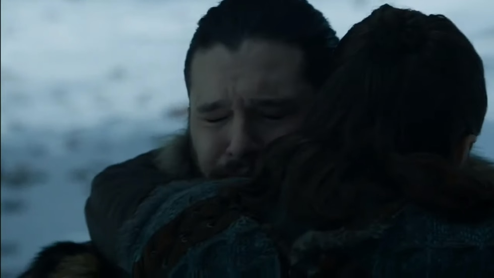"""Game of Thrones"": el emotivo reencuentro de Jon Snow y Arya. (Foto: Captura de pantalla)"