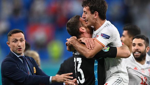 Mikel Oyarzabal anotó el gol del triunfo en la tanda de penales ante Suiza. Los españoles ahora enfrentarán al ganador del partido entre Italia y Bélgica.| Foto: AFP
