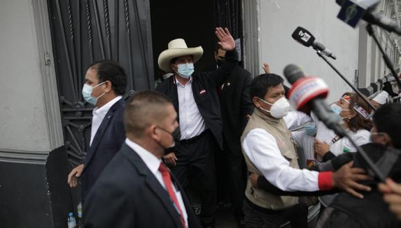 """El candidato presidencial de Perú Libre indicó que las reuniones con los burgomaestres buscan """"impulsar el desarrollo de los pueblos priorizando la salud"""". (Foto: El Comercio)"""