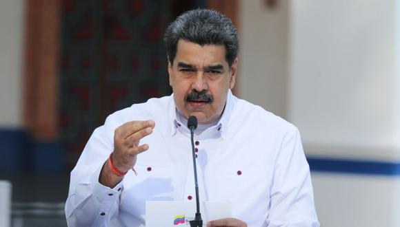 Nicolás Maduro durante un mensaje público a la nación en Caracas (Venezuela). (Foto: EFE/ Prensa Miraflores).