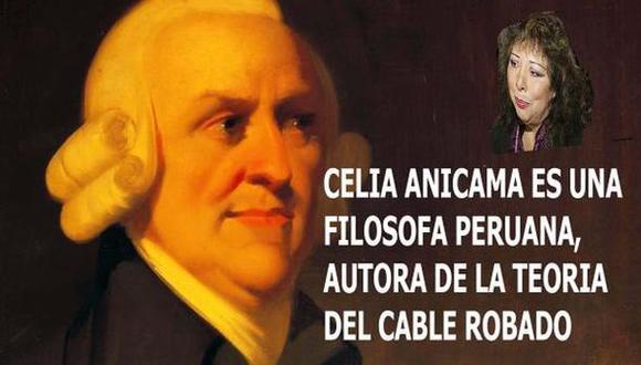 Se burlan de Celia Anicama por llamar griego a Adam Smith