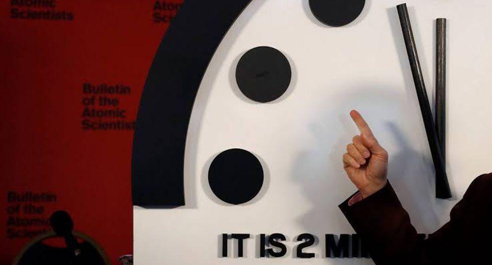 """El Reloj del Apocalipsis está más cerca del """"fin del mundo"""" que nunca (Foto: AFP)"""