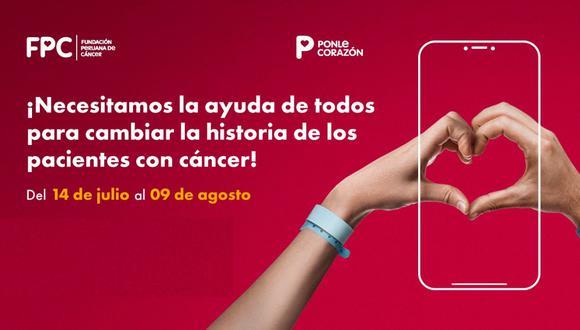 La colecta Ponle Corazón 2021 se llevará a cabo de forma virtual desde el 14 de julio hasta el 09 de agosto. (Foto: Difusión)